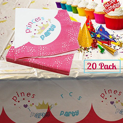 girls-33cm-pink-princess-crown-2ply-napkins-for-royal-theme-birthday-party-pack-of-20