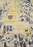 "Yellow Rug Modern/Contemporary Design 5' 3"" X 7' 7"" Soft Graffiti Carpet"