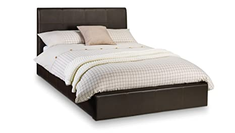 Phoenix Storage Bed Brown 150cm Upholstered Faux Leather