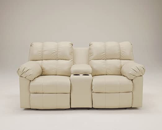 Kennard Cream DBL Rec Loveseat w/Console
