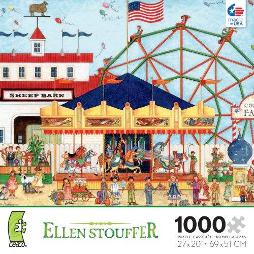 Ellen Stouffer Sheep Barn 1000 Piece Jigsaw Puzzle