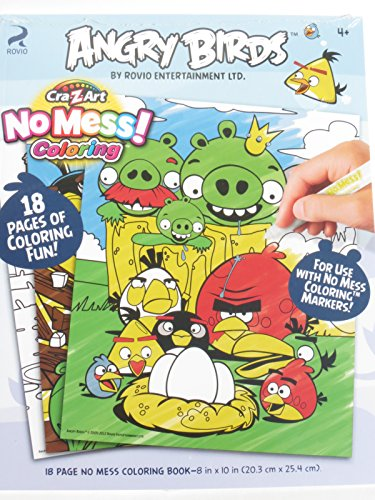 Cra-Z-Art No Mess! Angry Bird Coloring Book - 1