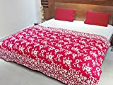 AURAVE Contemporary Multi Floral Reversible Duvet Cover - Pink -Single