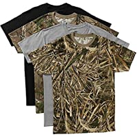 Hanes Mens Realtree Assorted Crew T-Shirt 4-Pack
