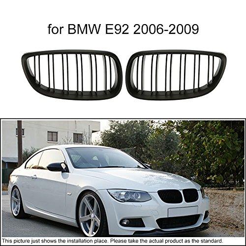 KKmoon Ein paar Auto matten schwarzen Kühlergrill Gitter für BMW E92 2006-2009