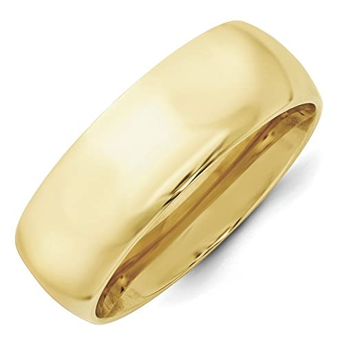10k Yellow Gold 8mm Standard Comfort Fit Band Size Z Ring - Higher Gold Grade Than 9ct Gold