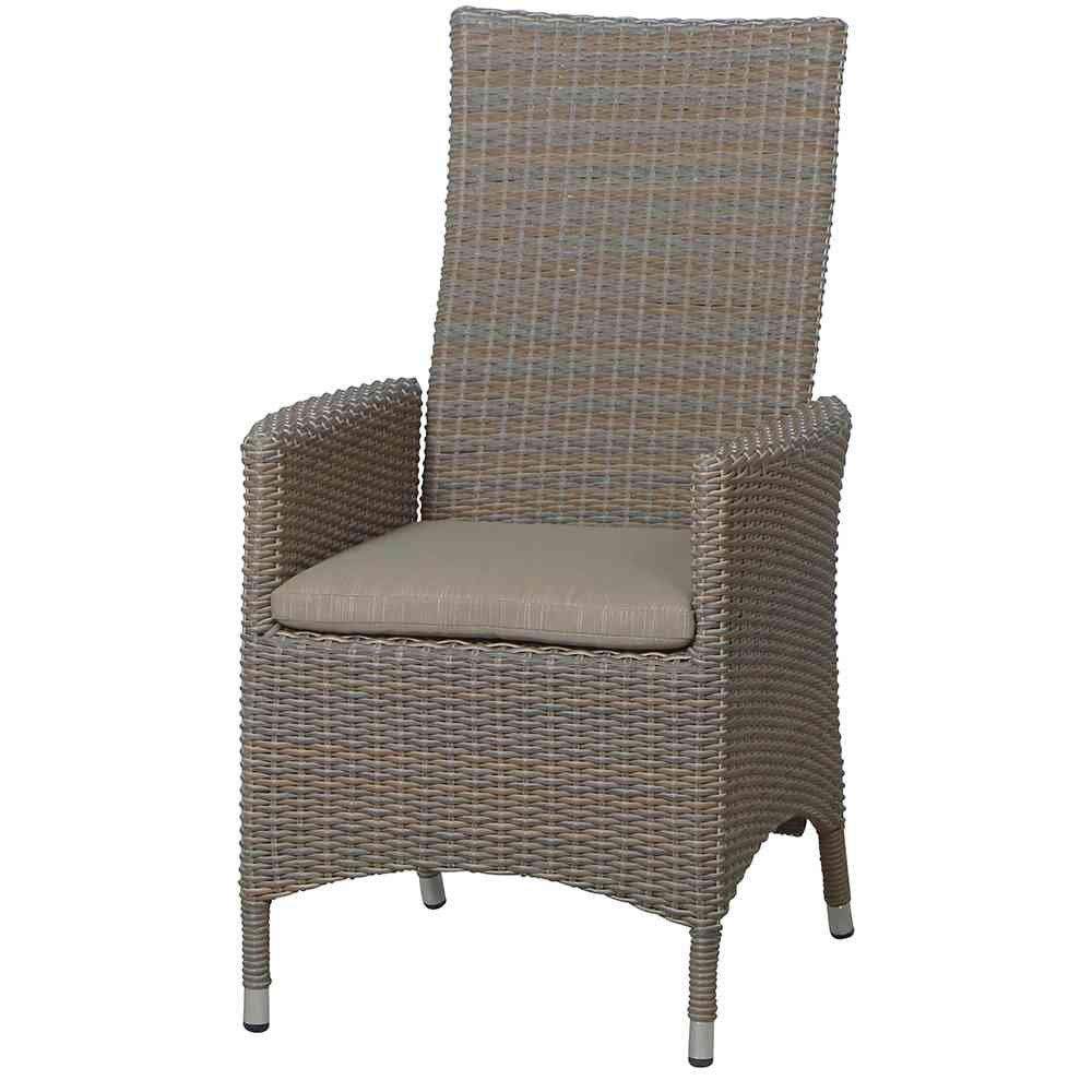 Siena Garden Move II Sessel, inklusive Kissen, 100 prozent Polyester, oak-grey online kaufen