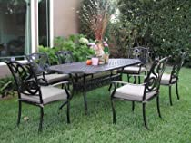 Big Sale CBM Outdoor Cast Aluminum Patio Furniture 7 Pcs Dining Set G1 CBM1290