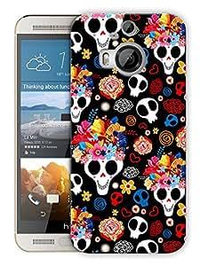 "Humor Gang Cute Skulls Printed Designer Mobile Back Cover For ""HTC ONE M9 PLUS"" (3D, Matte Finish, Premium Quality, Protective Snap On Slim Hard Phone Case, Multi Color)"