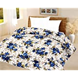 Lali Prints Luxury Blue Quilt A.C Blanket Single Bed Size Dohar