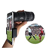 [16X52 High Power Prism Monocular Scope] - Waterproof Monoculars with Phone Clip for Cell Phone- for Bird Watching Hunting Camping Travelling Wildlife Secenery (Black) (Color: Black, Tamaño: S M L XL)