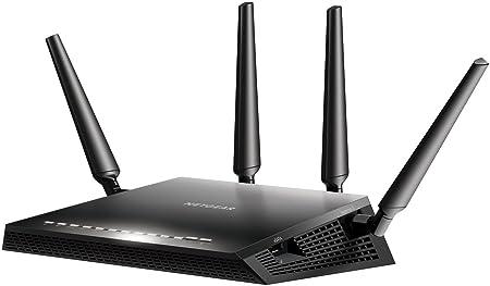 NETGEAR Nighthawk R7800-100PES Routeur Gigabit Wi-Fi Dual Band AC 2600 1 Porte SATA Noir