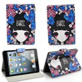 NetsPower® Fashionable Flip Folio PU Leather Smart Cover Case Pouch Stand Auto Sleep Wake up Function for Apple iPad Mini Mini2 - Dummy Doll