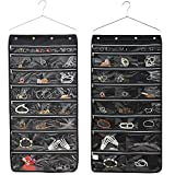 44 Pockets Oxford Hanging Jewelry Organizer with Zipper Hanger