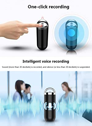 SNLY Digital Voice Recorder,Multi-Purpose Recording Device - Support Recording Or Use As A Fashion Accessory,Black,8gb (Color: 8GB)