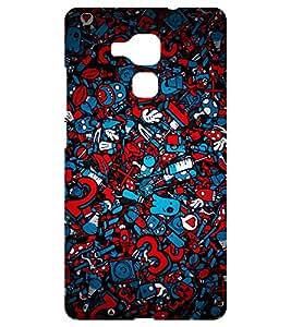 Chiraiyaa Designer Printed Premium Back Cover Case for Huawei Honor 5C (virus pattern) (Multicolor)