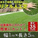 リアルすぎる人工芝 ロールタイプ 幅1m×長さ5m 武田コーポレーション