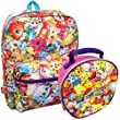Shopkins Allover Print 16 Inch School Backpack and Lunch Bag Box Set