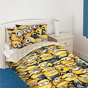 Despicable Me 2 Minions Single Panel Duvet Cover Bed Set