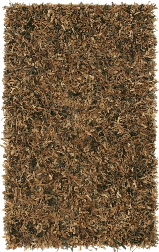 Brown Leather Shag 5'x8' Rug with Free Shipping!