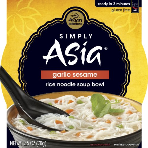 Simply Asia Garlic Sesame Rice Noodle Soup Bowl, 2.5-Ounce (Pack Of 36)