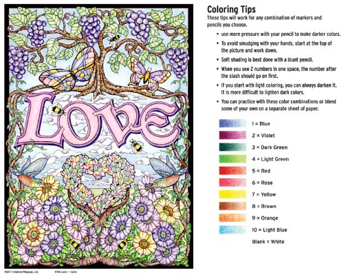 Pencil Coloring By Numbers For Adults