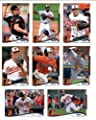 2014 Topps Baltimore Orioles Complete (Series 1 & 2) Baseball Cards SEALED Team Set (18 Cards)
