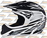 THH TX-10 Bolt Helmet &#8211; X-Large/Black/White