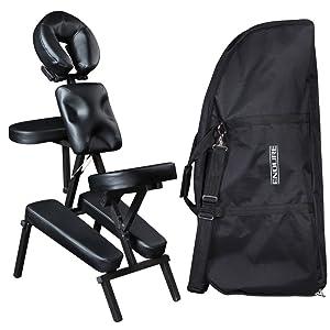 massage chair portable. salon spa portable massage chair mc-50blk r