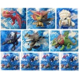 "How to Train Your Dragon 6 Piece Dragon Collection Holiday Christmas Ornament Set Featuring Skullcrusher, Toothless, Cloudjumper, Skrill, Bewilderbeast and Terrible Terror - Shatterproof Ornaments Range From 2"" to 4"" Tall"