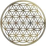 4 x Blume des Lebens - Aufkleber GOLD geprägt 5cm