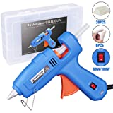 Hot Glue Gun with Carrying Box and 20 Pcs Glue Sticks, 60/100W Full Size Dual Power High Temp Heavy Duty Melt Glue Gun Kit for DIY Crafts Arts Home Quick Repairs Festival Decoration by Rockindeer (Tamaño: 60/100W)