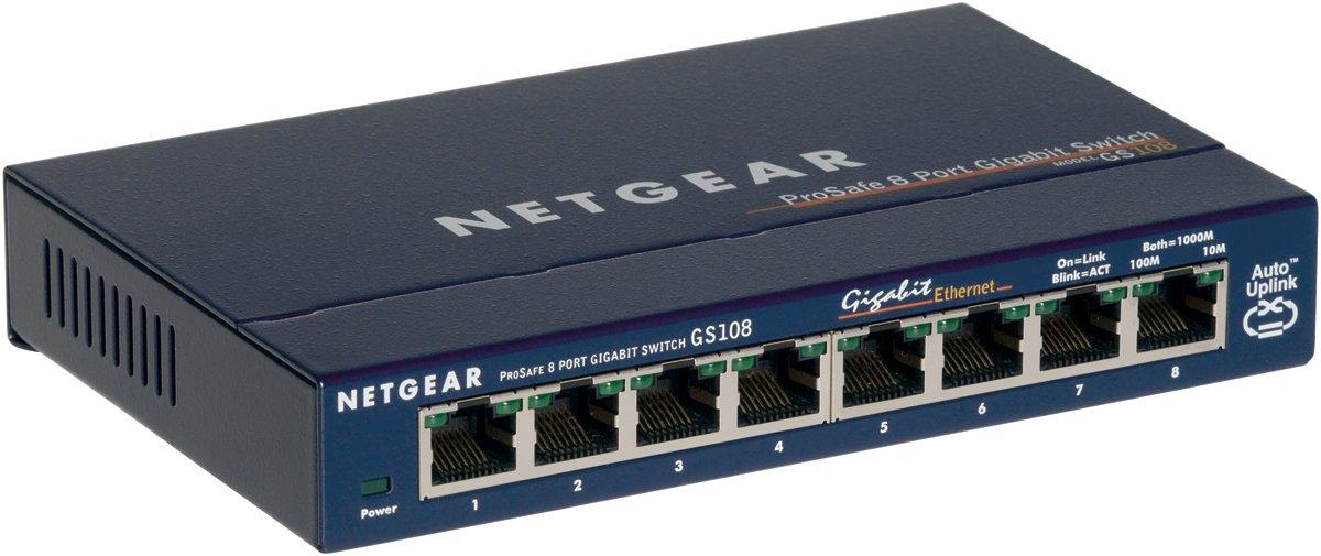 Switch NETGEAR PROSAFE GS108 BLEU 8PORTS