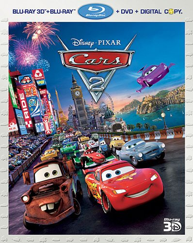 Cover art for  Cars 2 (Five-Disc Combo: Blu-ray 3D / Blu-ray / DVD / Digital Copy)