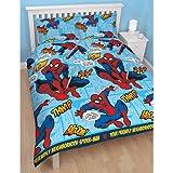Official Marvel Ultimate SpiderMan 'Thwipp' Double Duvet Set + FREE WHITE SHEET!!! Bedding Boys Bedroom