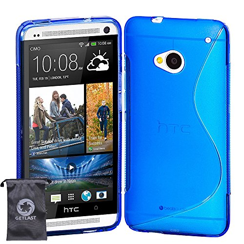 htc-one-m7-casecoolke-blue-s-line-soft-gel-tpu-case-flexible-protective-cover-for-htc-one-m7