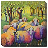 West of the Wind All-Weather Art Print, 24-Inch, Knitting Circle