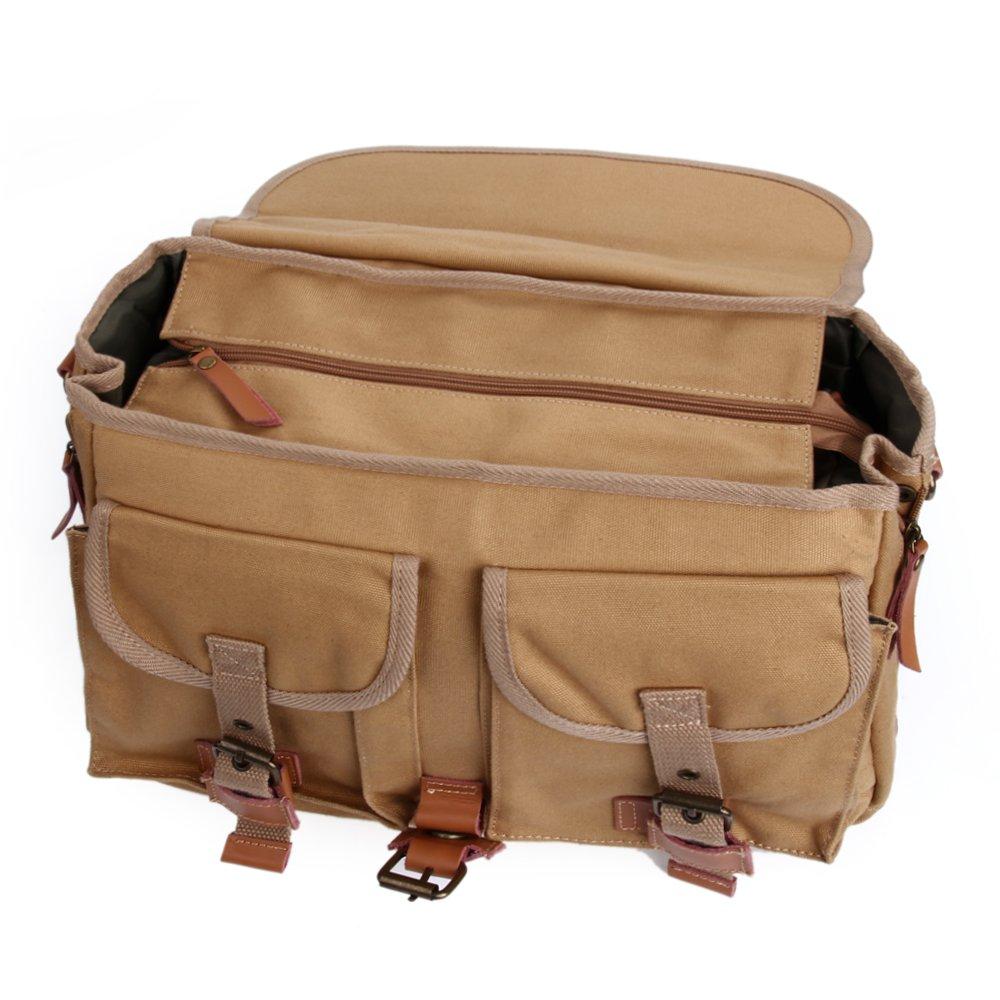 Zebella Casual Waterproof Canvas Shoulder Bag SLR DSLR Camera Case 6