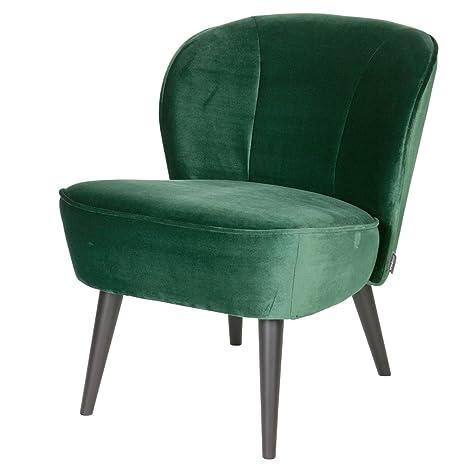 Vintage Sessel Polstersessel SARA Samt Loungesessel Clubsessel Fernsehsessel (grun)