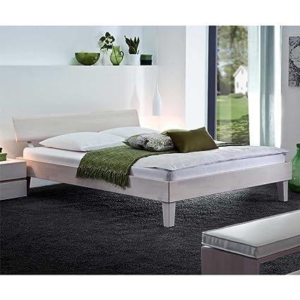 Betten Doppelbett Buche weiss Nelia Ausfuhrung 6 Pharao24