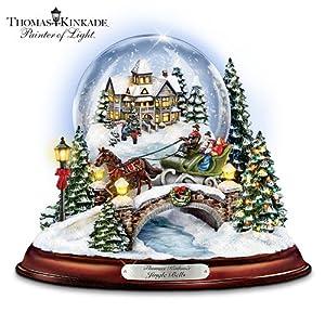 #!Cheap Thomas Kinkade Jingle Bells Illuminated Musical Christmas Snowglobe by The Bradford Exchange
