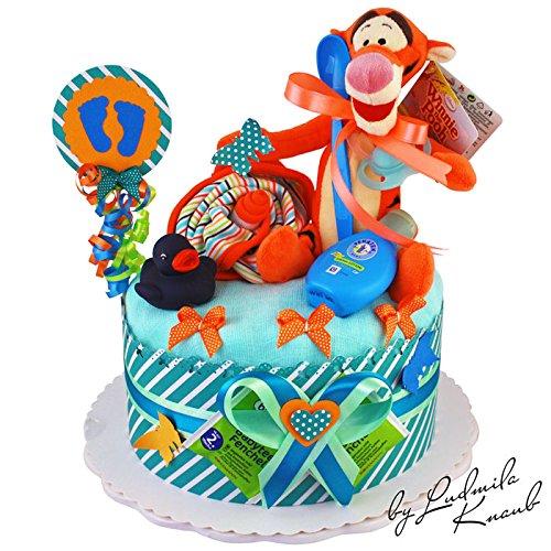 gateau-gateau-pampers-couches-cadeau-pour-bebe-garcon-dans-un-beau-colorees-de-2-ton-orange-turquois