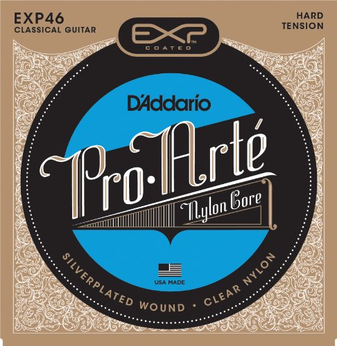 D'Addario EXP46 Coated Classical Guitar Strings, Hard Tension (D Addario Exp compare prices)