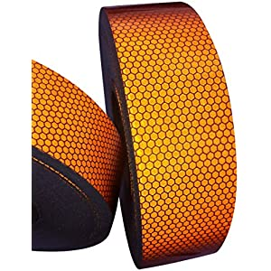 Hi Viz High Intensity Reflective Tape Orange 25mm X 2.5m Weatherproof Strong