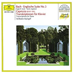 Bach: English Suite No.3; Capriccio BWV 922 / Transcriptions for Piano
