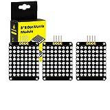 KEYESTUDIO 3 Pcs I2C 8x8 LED Matrix HT16K33 Module for Arduino A/Raspberry Pi/AVR/STM32 …