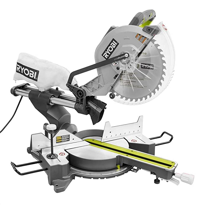"RYOBI TSS120L 12"" 15 Amp Sliding Miter Saw with Laser via Amazon"