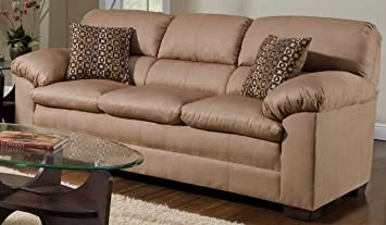Simmons Upholstery 3685 Velocity Sofa Latte