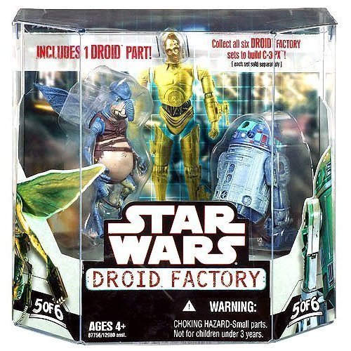 Star Wars Saga 2008 Build-A-Droid Factory Action Figure 2-Pack Watto and R2-T0 by Hasbro (English Manual)