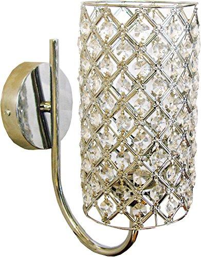 Al Noor Metal Wall Light (Silver & Transparent)